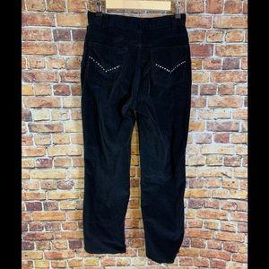 Women's Birch Hill Black Velour Trouser Pants Sz 6